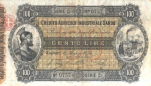 Credito Agricolo Industriale Sardo 100 lire