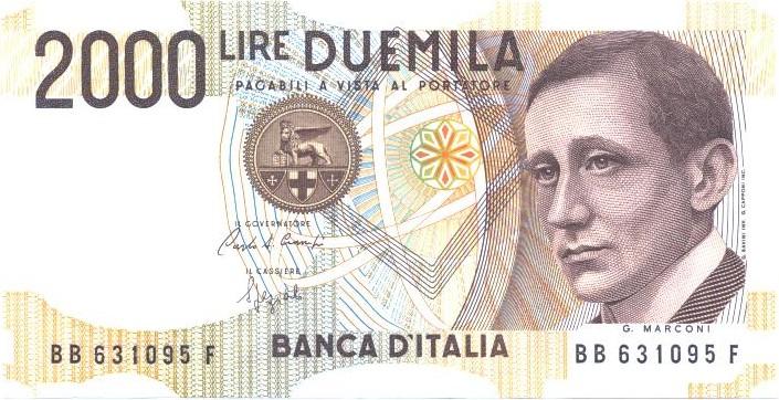 2.000 lire Marconi