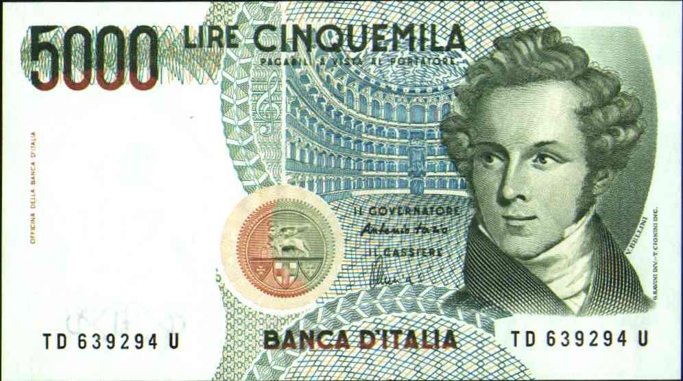 5.000 lire Bellini