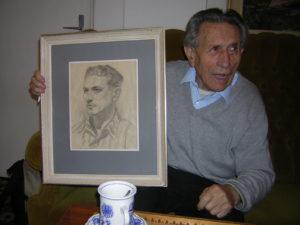 Adolf Burger con il suo ritratto